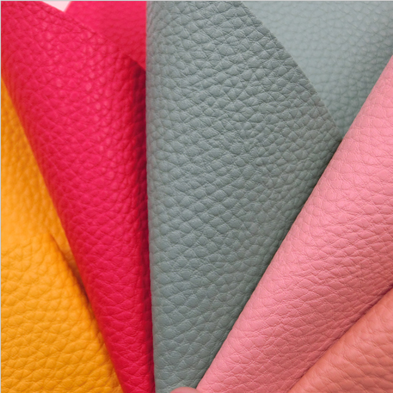 China supplier suede fabric eco vegan leather big litchi grain eco friendly microfiber leather car seats cover synthetic leather