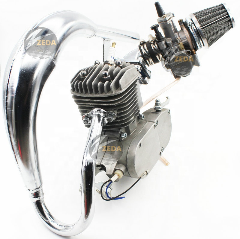 Petrol Bike Engine Kit 2 Stroke 49cc 50cc 60cc 66cc 70cc 80cc 100cc Engine  For 2-cycle Gas Motorized Bicycle - Buy Petrol Motorized Bicycle,Motorized