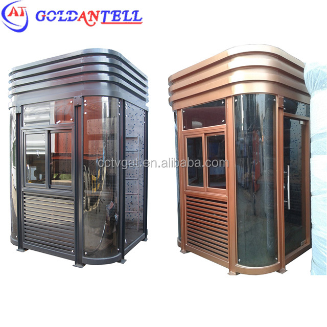 Luxury Prefab Sentry Box / Community Guard House With Working Desk / Light Equipped Complete