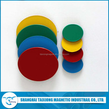 Rubber Coated Colorful Round PVC Magnet Sheet