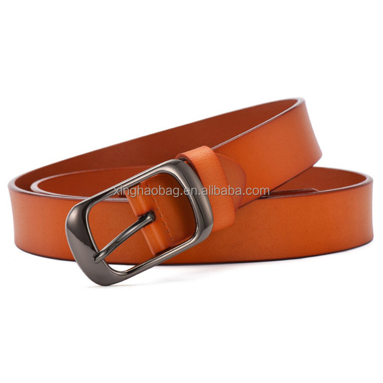 Western promotional men business stylish brown top layer genuine leather belt