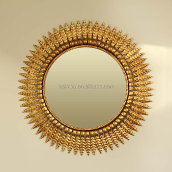 Luxury Fairy-Tale Sun Shaped Wall Mirror, Home Decorative Sun-God ...