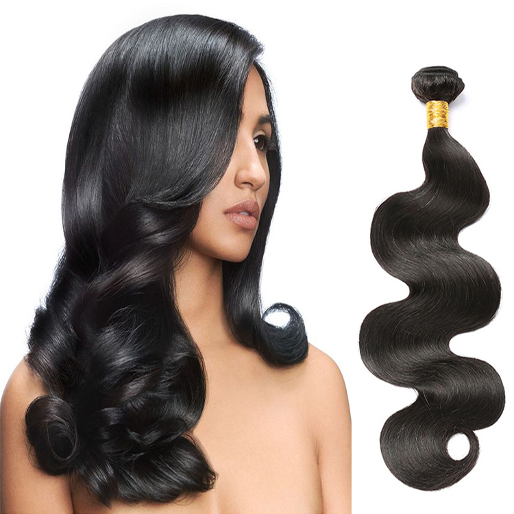 High Quality 7A 8A 9A 10A 11A Grade 1B Color Brazilian Virgin Body Wave Hair Bundles, Nature black