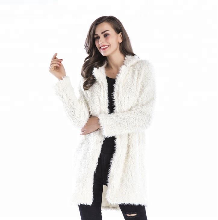卸売子羊ロングスリーブのコート女性