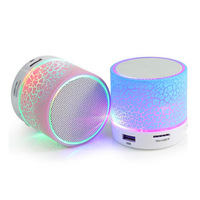Portable Mini Colorful Flash LED Light Waterproof Wireless Bluetooth Speaker with FM Radio S10 Speakers Bluetooth