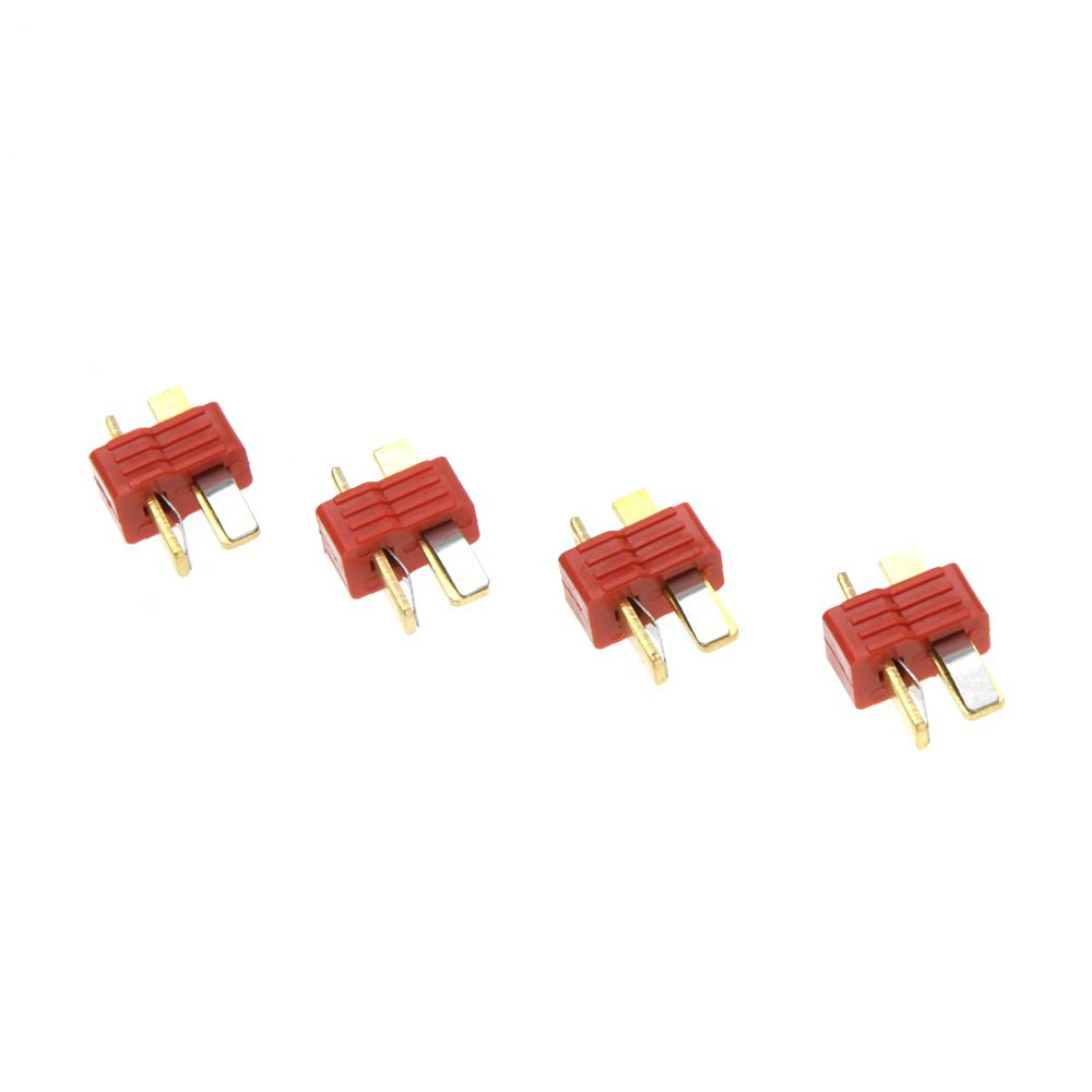 EverTrust(TM) 10 Pairs Universal Non-slip T Plug Male and Female Connectors Battery Part for RC Lipo Battery ESC