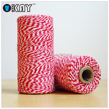 Trade Assurance Free Sample cotton twine red and white