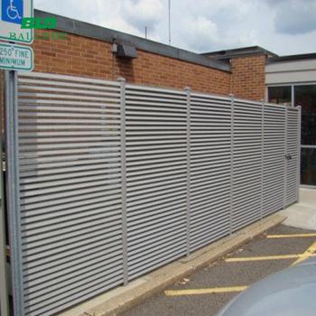 Aluminium Louvre Fence Panel Aluminium Slat Amp Louvered