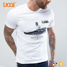 OEM Short Sleeve Combed Cotton 180gsm Casual Style White Color Silk Screen Print Custom t shirt printing