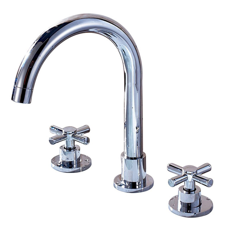 MANCEL 3PCS Basin Faucet Set Chrome Finished Bathroom Sink ...