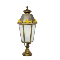 Small Victorian style outside lamp post top light/lantern garden Pillar Light RHT-13325
