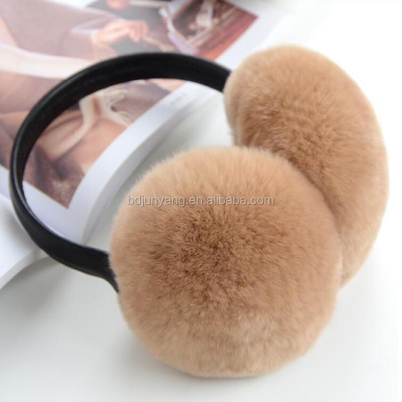 Women's Earmuffs Women's Accessories Good Oversized Really Big Raccoon Fur Earmuffs Korean Real Fur Earmuffs Lovely Personality Plush Fur Ear Cover Warm Reputation First