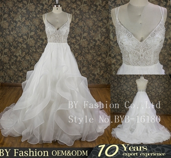 Factory Real Picture 2016 See Through Body Bridal Dress Heavy Beaded ...