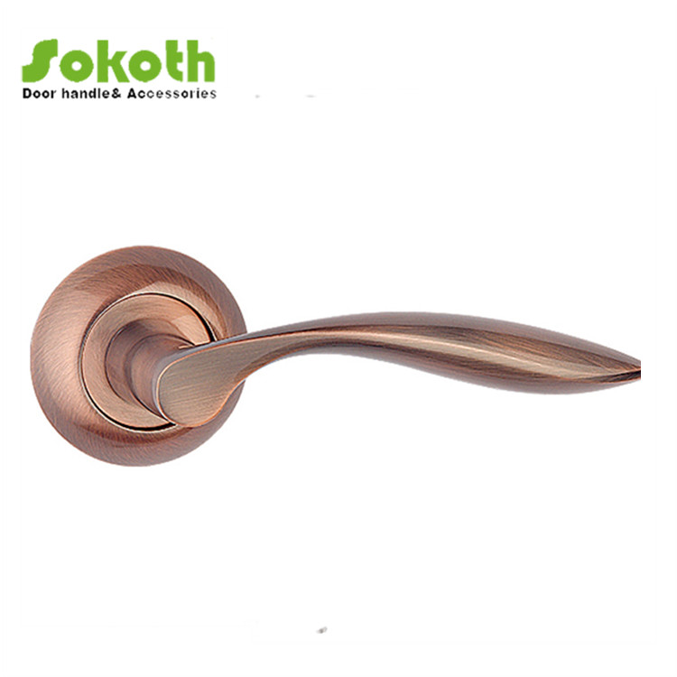 Russia market lever mortice handle with rose (AC) made in wenzhou,china