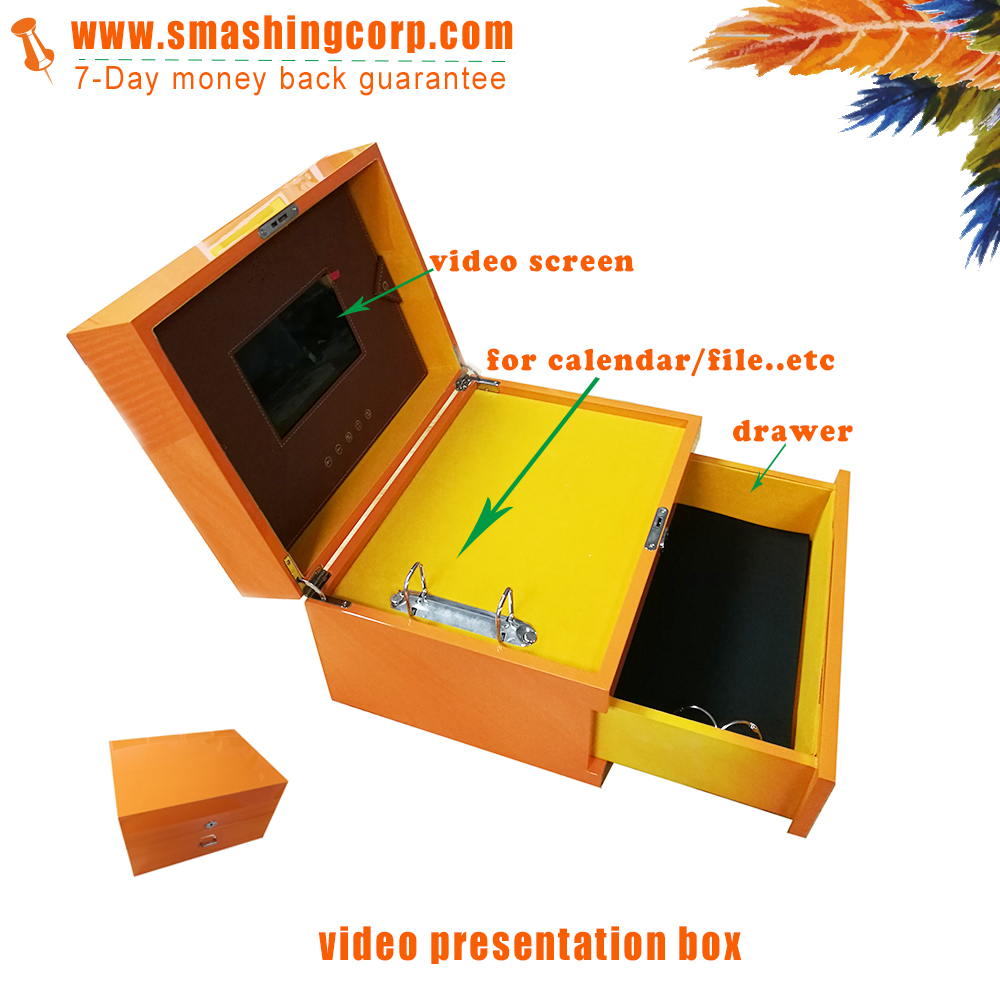 all in one presentation video brochure box greeting card custom the video card to any size shape or material