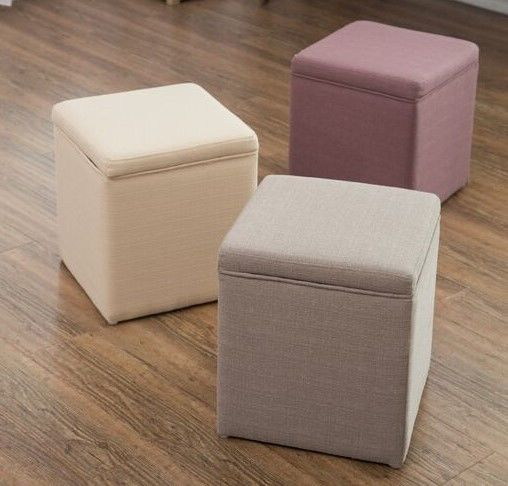 Kids Sofa New Fabric Square Footstool Box Ottoman With Storage Lid Grey  Pink Natural Sofa Sets Bench Footstool Box   Buy Round Footstool Ottoman  Folding ...