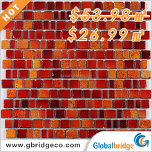 Wholesale crystal glass mosaic antique sparkle crystal glass mosaic wall tile