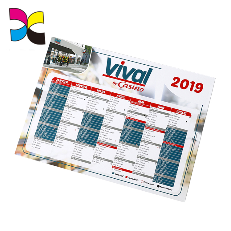 high quality popular wholesale cheap price printed calendar with your design
