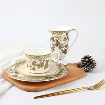 2017 New design bone china high quality dinner set with gold / elegant royal dinner plates & 2017 New Design Bone China High Quality Dinner Set With Gold ...