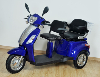 Hot Sale 2 Seats 3 Wheel Electric Scooter For Handicaped