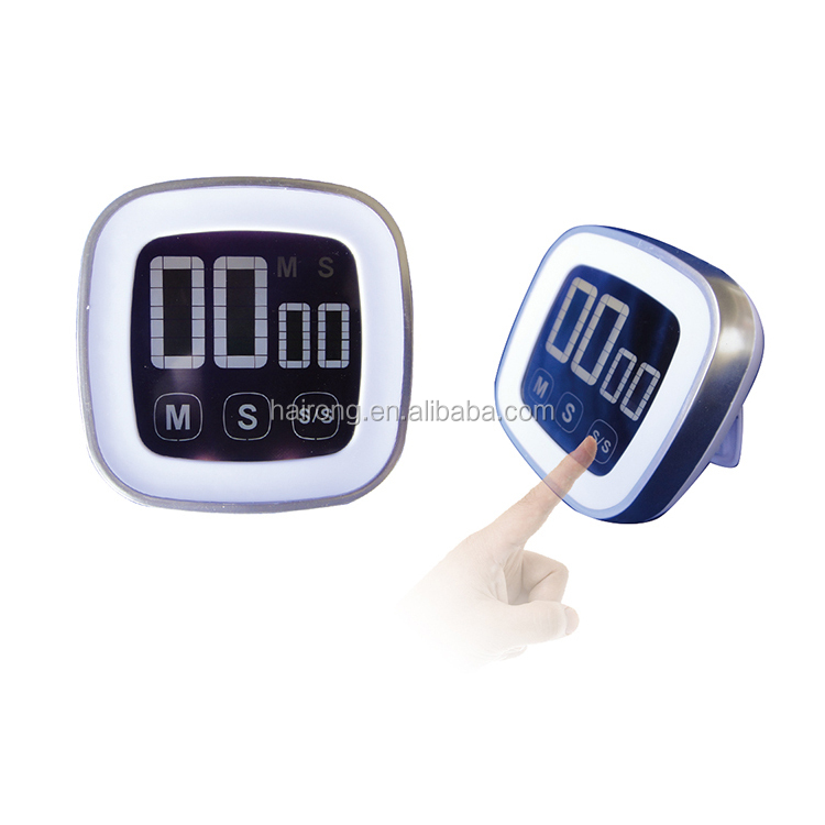 Hairong 2.016 new product touch screen with magnet digital kitchen timer