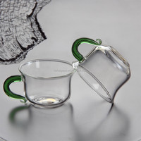 wholesale bulk heat resistant glass tea cups with handle