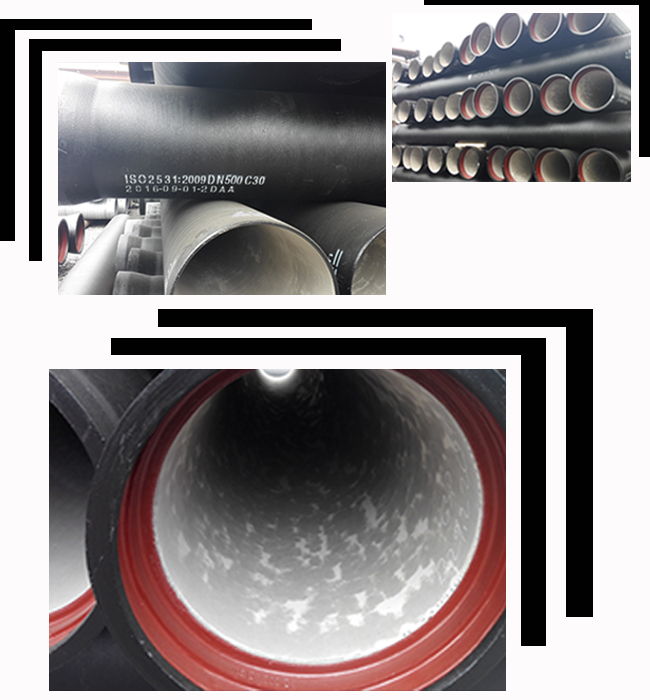 ISO9001/EN545 high quality zinc coating DN150mm ductile iron steel pipe k7/k9