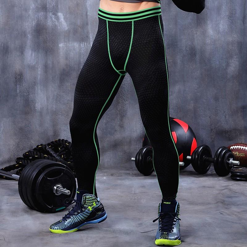 2016 Compression Tights Printed Gym Leggings High Elasticity Men Joggers 5
