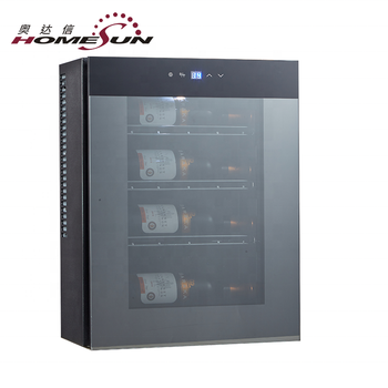 Custom Thermoelectric 12L Wine Cellar Wall Cooling, Top Mounted Wine Refrigerator, 4 Mini Wine Cooler