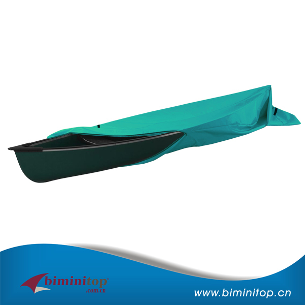 Easily cleaned double needle canopy cover for drifting kayak boat