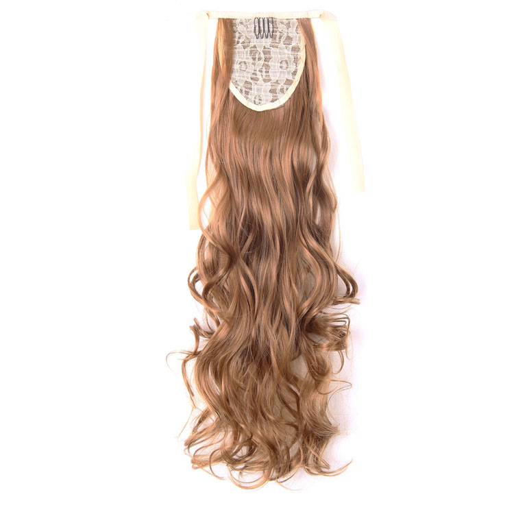 Wholesale Price Yellow Color Fashional Synthetic Ponytails Drawstring Hair Extensions for Women