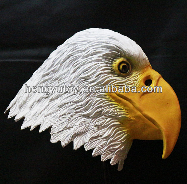 Top highest selling celebration Fancy Dress eagle head latex mask for Cosplay