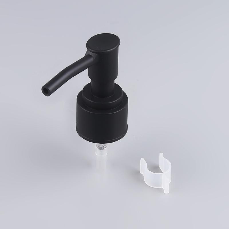 Thiết kế mới 24mm dài miệng lotion bơm đen bơm dispenser cho chai dầu gội đầu