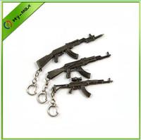 Vintage Key Chain Pocket Knife Gun Shaped Victory