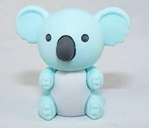 Koala Bear Japanese Eraser, Light Blue. 2 Pack