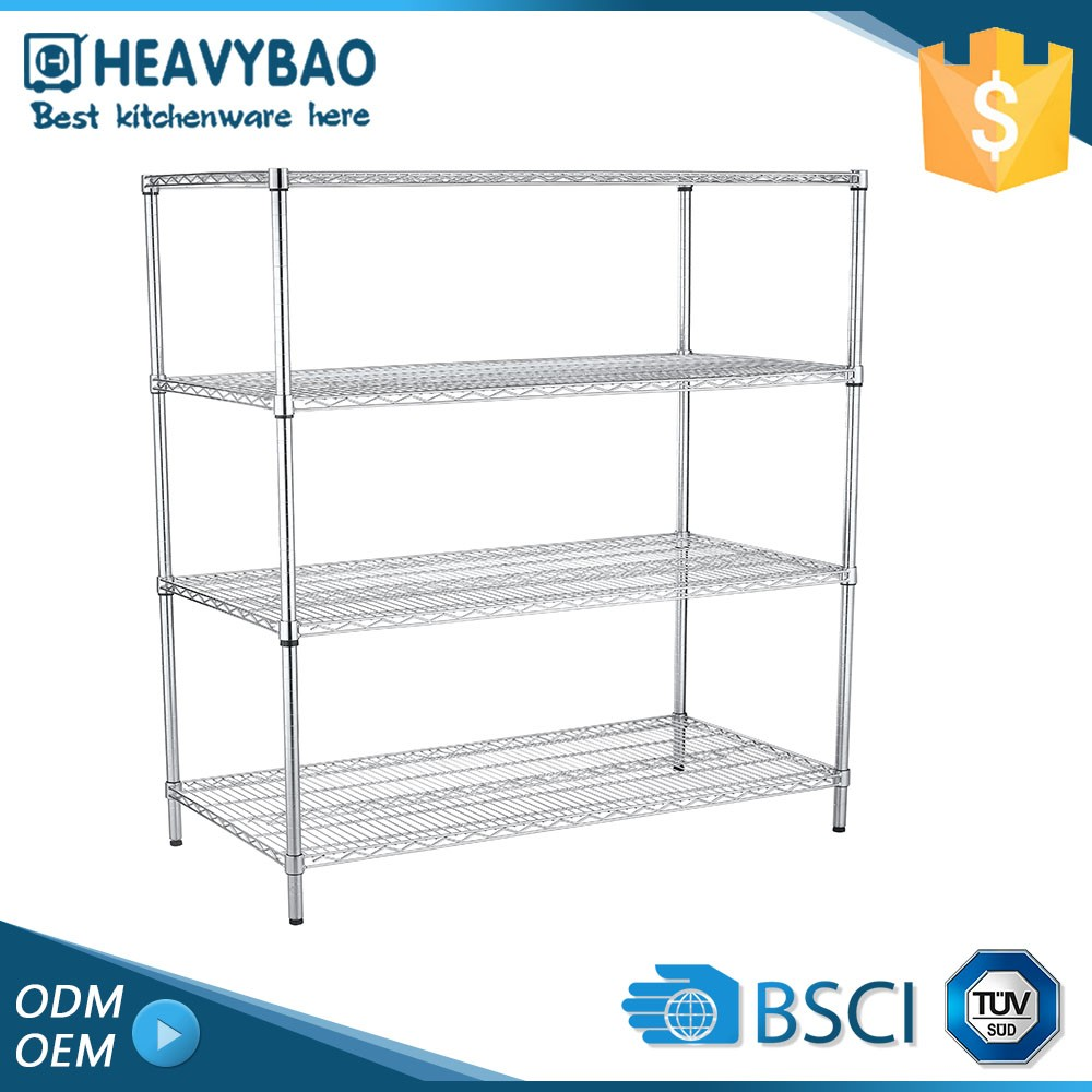 Heavybao Stainless Steel Buffet Ware Heavy Duty Rack Used Metal Shelf For Picture Frame