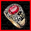 Fashion high quality school ring /used class rings / college ring