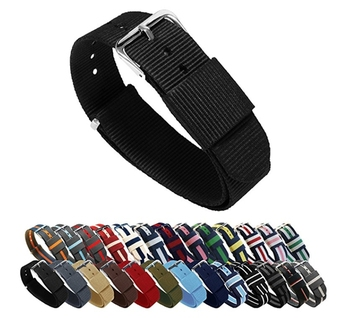 2017 High Quality custom 20mm 22mm width nato nylon watch band strap for watch
