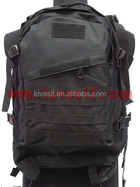 3D nylon black military tactical outdoor backpack Wholesale high quality hking pack US army assault pack military 3D backpack