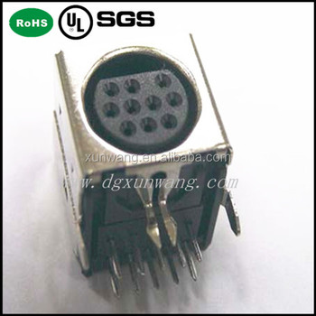 Factory price mini din connector 10 pin right angle dip shielded factory price mini din connector 10 pin right angle dip shielded publicscrutiny Image collections