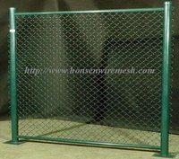 2013 Hottest sales!!! U.A.E green PVC diamond/chain link fence 16-year professional factory