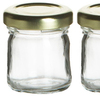 Small Mini Glass Jar with Lids glass Container for Jam, Honey, Spices, Favors