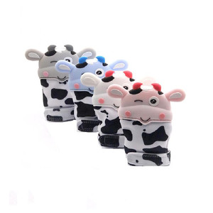 Soft Cute Animal Shape Silicone Baby Teether Glove