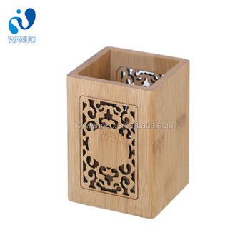 WanuoCraft Multi Purpose Verwenden Sie Nature Bamboo Engraving Desk Stifthalter