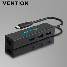 Vention 3 Port USB 3.0 Type C HUB With RJ45 Lan Ethernet Adapter