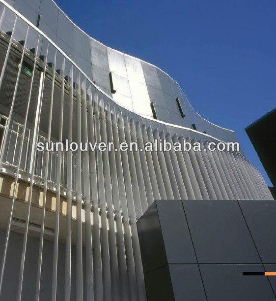 2014new Design Aerofoil Aluminum Sun Louvers For Facade