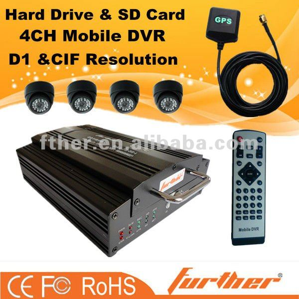 SD card and hard drive mobile DVR