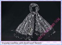 2011 new Fashion Long 50% viscose & 50% argent gold snake skin printed scarf