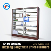 Steel storage heavy duty double side metal library bookshelf