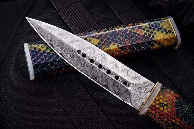 60HRC Damascus Steel Knife Fixed Tactical Knives Outdoor Tools Dropshipping 8310